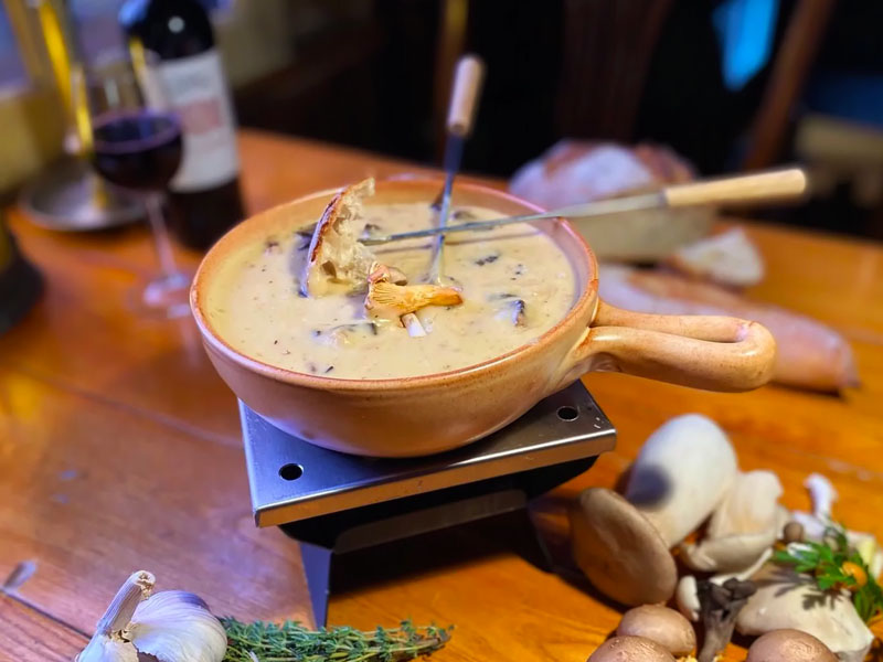 Kaasfondue bospaddenstoelen online bestellen